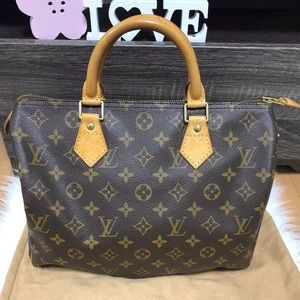 LOUIS VUITTON SPEEDY 30 VGC DUSTBAG, LOCK & KEY